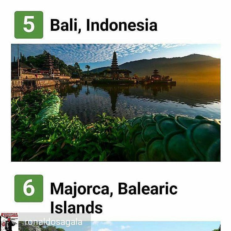 from @ronaldosagala -  Bali kembali menjadi Pulau terbaik nomor 1 di Asia dan nomor 5 se dunia versi #TripAdvisor ... --- Bali merupakan destinasi wisata yang sangat diminati oleh wisatawan baik dari mancanegara maupun domestik.  kenapa Bali sangat diminati? jelas karena keindahan alamnya keunikan budayanya serta keramahtamahan penduduknya. --- sayangnya pemerintah kurang menjaga kelestarian alam Bali. perencanaan pembangunan yang begitu masive seakan mengesampingkan kelestarian alam.  yang…