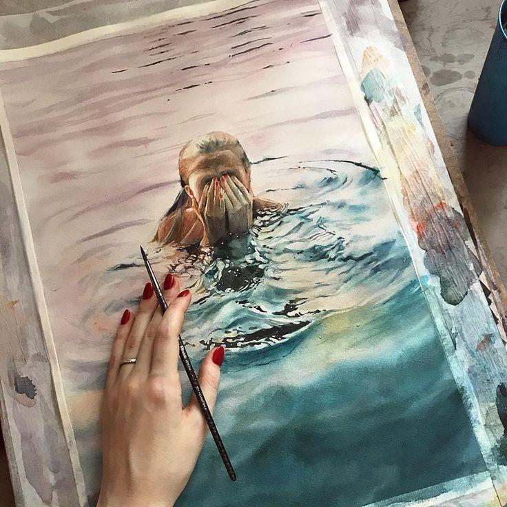 Watercoloris Maľby Maľovanie Mim