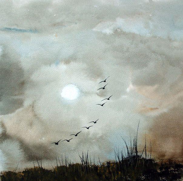 Landscape and seascape fine art watercolors of East Anglia