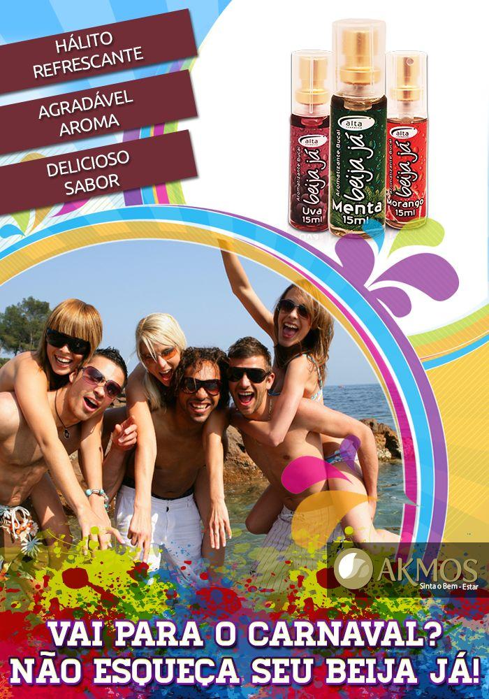 Quer garantir um hálito refrescante para o Carnaval?  Conheça nossa linha Beija Já Akmos e garanta seu hálito com um ótimo aroma por mais tempo!  Confira em nosso site: http://www.akmos.com.br