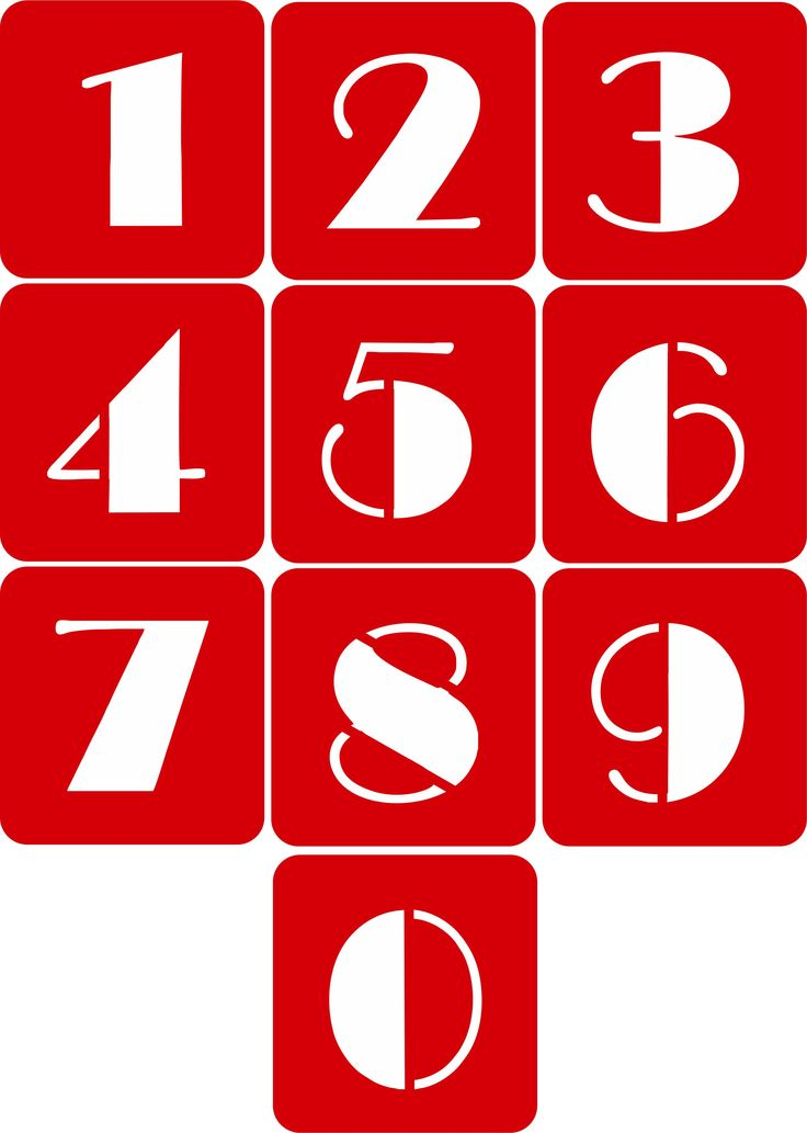 CODE: A103. NAME: Number Stencils (Broadway Font). SIZE:  5cm, 7cm & 10cm. Available from RD Designs. Contact: renchea@rddesigns.co.za.