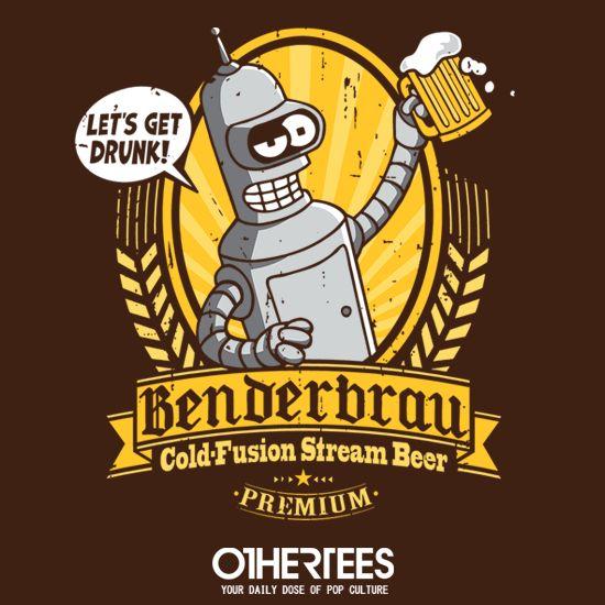 Benderbrau #bender #futurama #beer https://superhumanitee.com/212