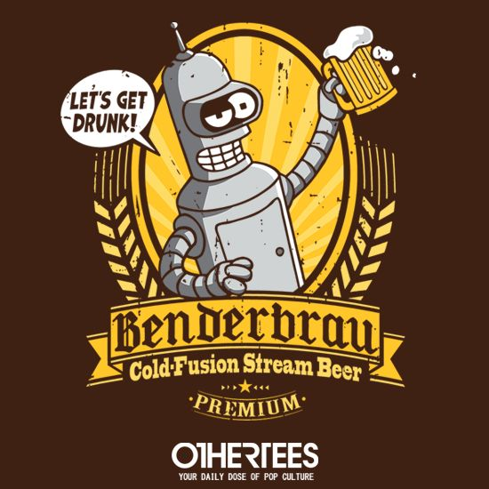 Benderbrau #bender #futurama #beer https://superhumanitee.com/212
