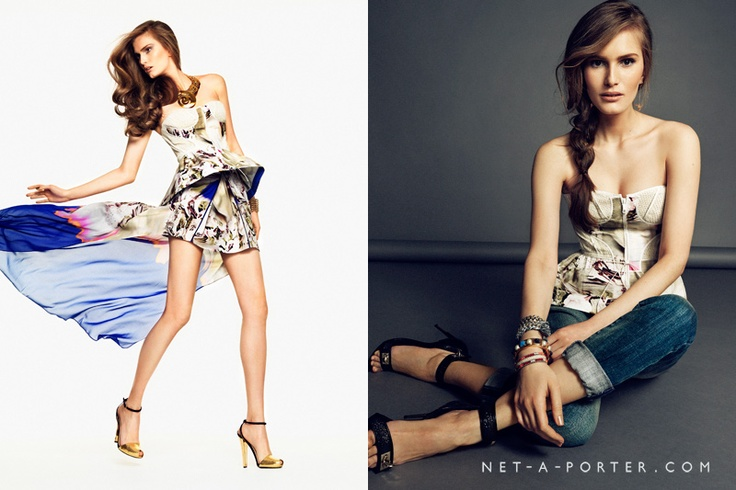 The Peplum Top – With boyfriend jeans or a flowing chiffon skirt, get your new-season frills in a sculptured peplum top.