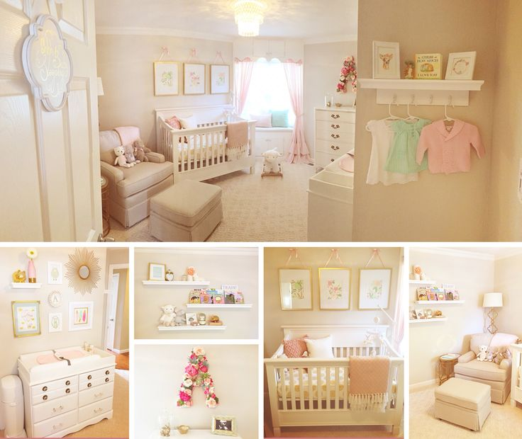baby girl nursery blush pink mint gold home