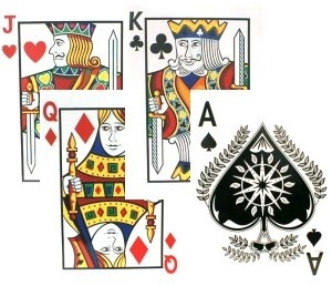 Giant Plastic Playing Cards 18 inch (Pkg./4))  casinosupply.com  $2.95