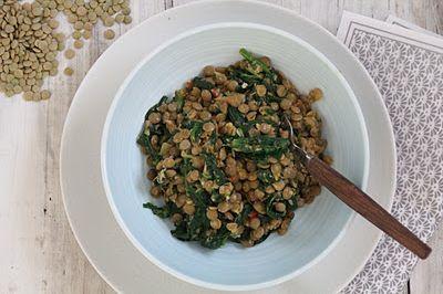 Mat På Bordet   Spicy grønne linser med spinat