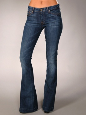 Seven For All Mankind Jiselle Flare Leg Jean - just got these at Nord Rack huuuge flare