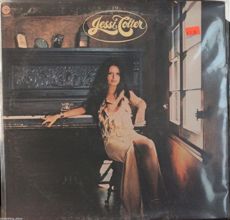 This is Jessi Colter I'm Jessi Colter vinyl record album. The pictures are of the actual album cover. It is recorded on Capitol Record Label #ST-11363 in 1975. There are light play marks visible on th