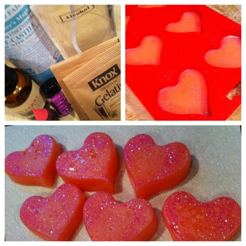 """Individual shower jellies: I love to make my own """"shower jelly"""" and have done it for years thanks to a recipe from a book by Janice Cox. Kids love it and it makes unusual gifts.  I have never tried making it in molds like this...too cute!"""