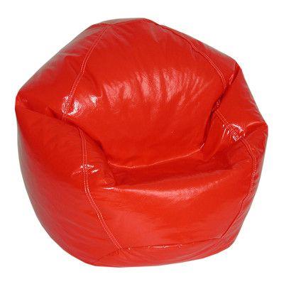 Zipped Bean Bag Chair Upholstery: Lipstick - http://delanico.com/bean-bag-chairs/zipped-bean-bag-chair-upholstery-lipstick-725830071/
