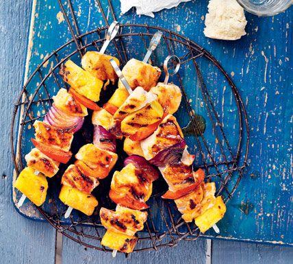 Zoete kipspies met ananas - Recept - Jumbo Supermarkten