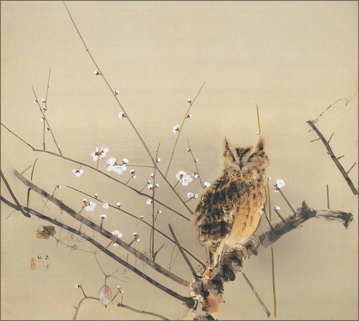 Early Plum Blossoms, Nishimura Goun, 1936. Adachi Museum of Art.
