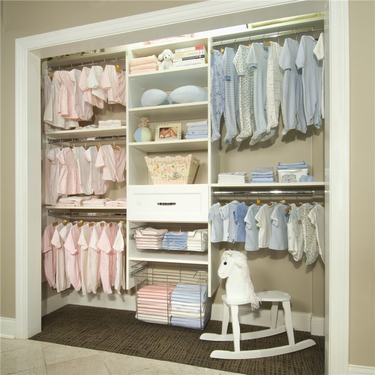 Beautiful Baby Closet Organizer Ideas : Well Organized Baby Closet Split Up  Design