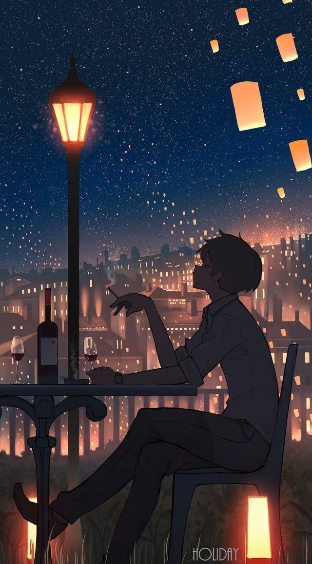 Holiday Pasoputi Imaginarysliceoflife Anime Backgrounds Wallpapers Anime Art Beautiful Anime Scenery Wallpaper Cool art anime wallpaper