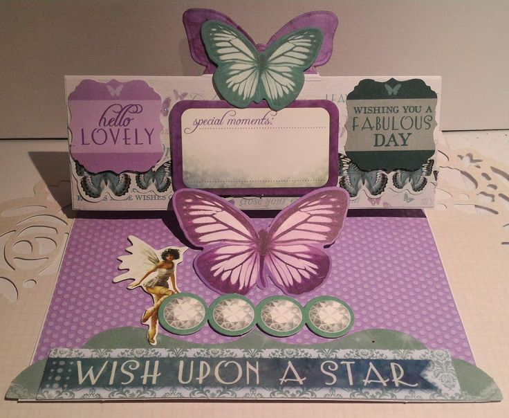 Aunty Vera Scrap and Craft: ButterFly Flip Card using KaiserCrafts Fairy Dust Collection