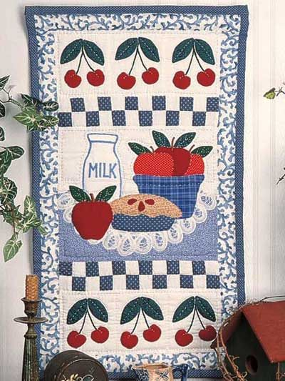 Apple & Cherry Wall Quilt - @Teresa Raleigh - this made me thing of you with the bowl of fruit!  :)
