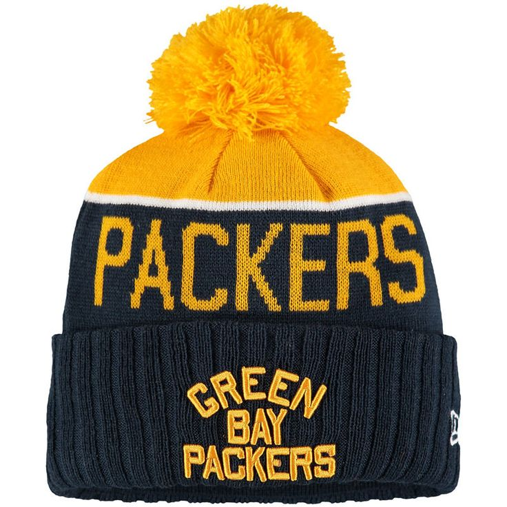 Youth Green Bay Packers New Era Navy On Field Classic Sport Knit Hat - NFLShop.com
