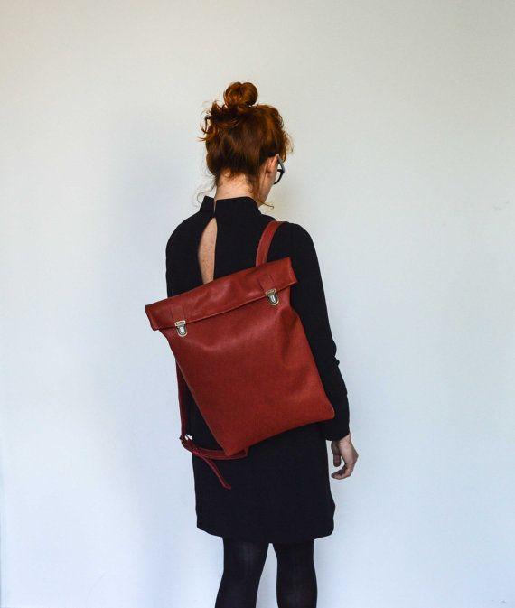 15 Leather Backpack/ Leather bag/ Backpack/ Leather by byNizzo