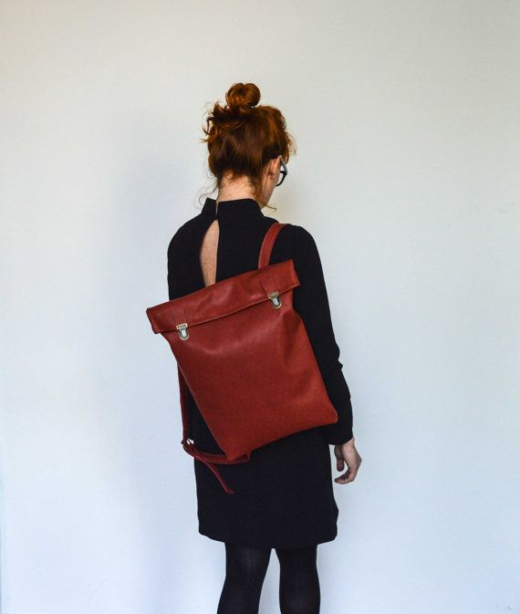 15 Leather Backpack/ Leather bag/ Backpack/ Leather by byNizzo