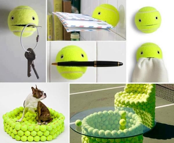 30 creative design ideas to reuse and recycle tennis balls for Recycle project ideas