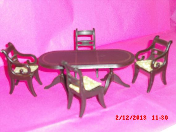 Lundby dolls house dining room set by VintageLundbyLove on Etsy, £15.99