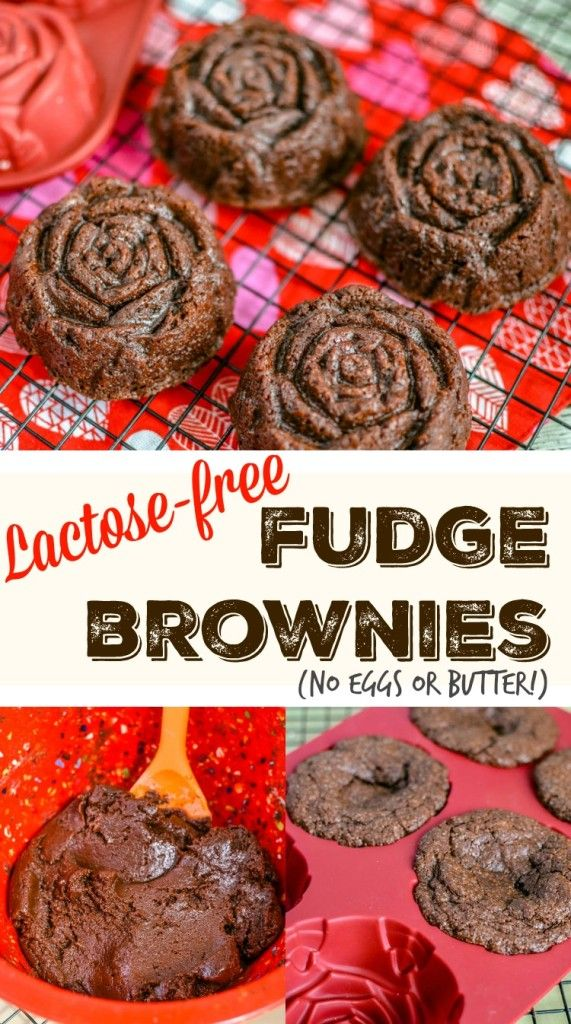 Lactose-Free Dessert Recipe -Delicious Fudge Brownies! This easy recipe doesn't have eggs or butter for those who are lactose intolerant or dairy sensitive. You can even eat the batter!