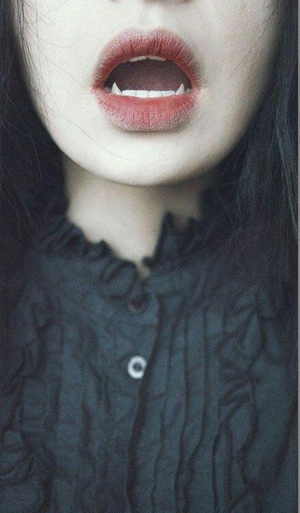 vampire, lips, and grunge image