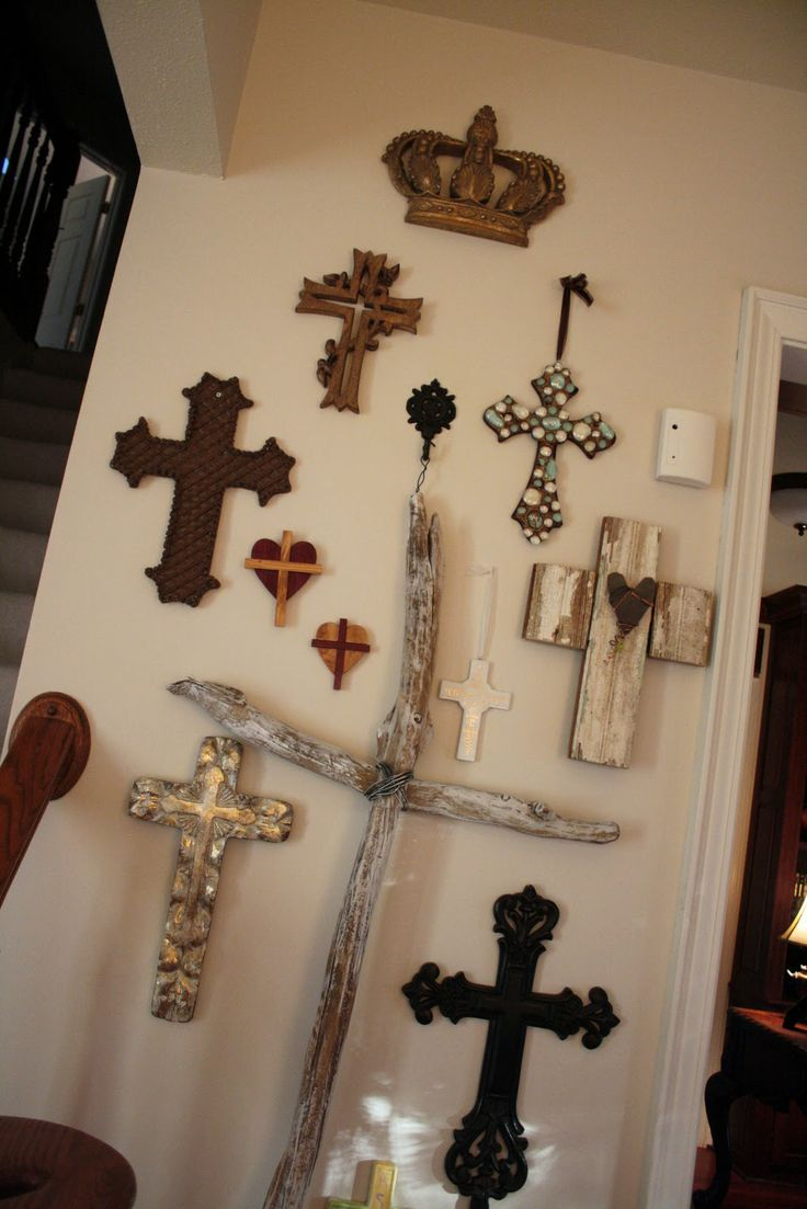 52 best mexican crosses images on pinterest architecture wall of crosses with crown at top i want a crown for my cross wall amipublicfo Image collections
