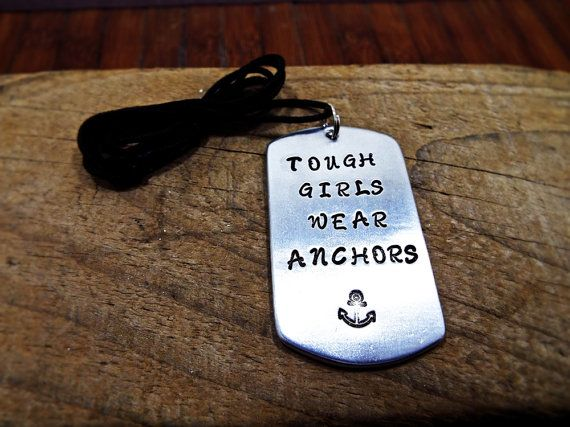 Tough Girls Wear Anchors Sailor Necklace by Aluminiopassions