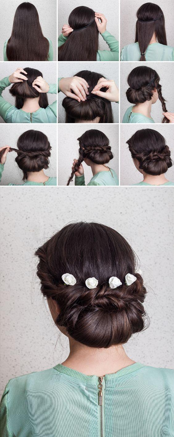 Schöne & einfache Idee für eine Hochzeitsfrisur #wedding #hair #inspiration #roses #beautiful