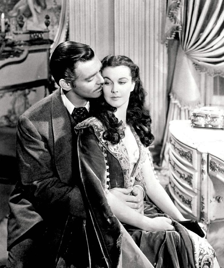 Vivien Leigh & Clark Gable in Gone with the Wind, 1939