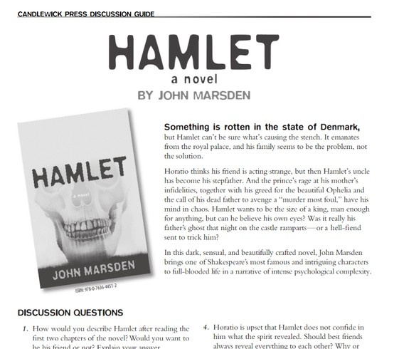 hamlet discussion questions Study questions suggestions for further reading horatio's steadfastness and loyalty contrasts with hamlet's variability and excitability, though both share a love of learning, reason, and thought.