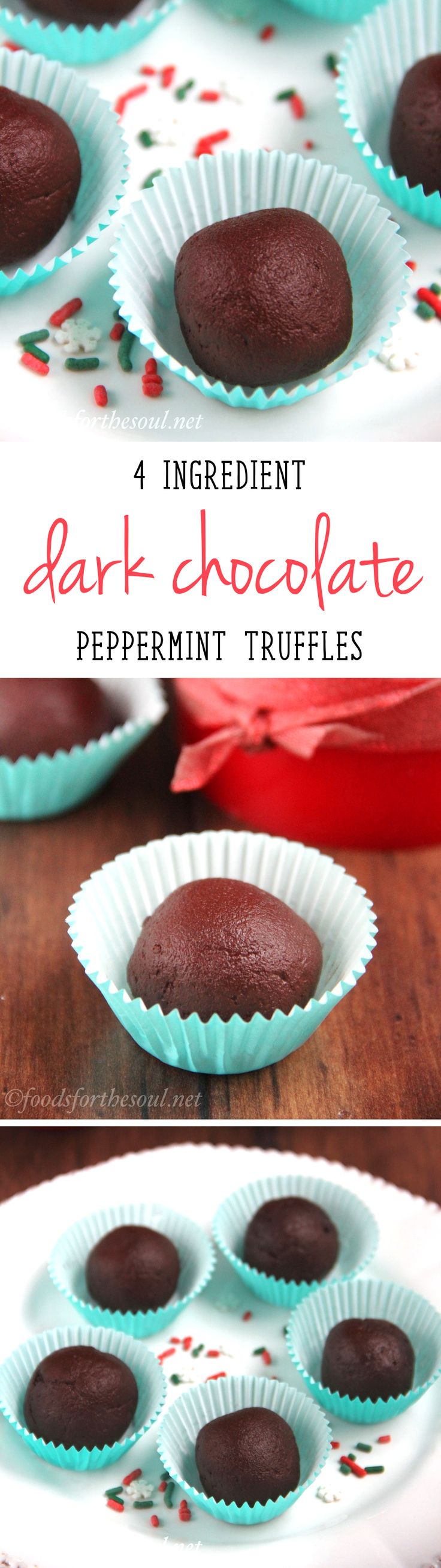 These decadent truffles are the EASIEST you'll ever make! You just need 4 ingredients, all of which are in your pantry already!