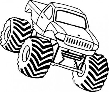21 best Monster Truck coloring for my boy!! images on Pinterest