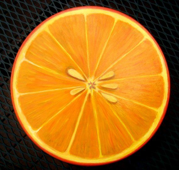 Lazy Susan Wood Orange Slice Design 15 inch by JaneSuzanne on Etsy, $140.00