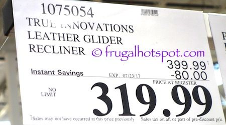 Costco Sale: True Innovations Leather Glider Recliner $319.99 | Frugal Hotspot