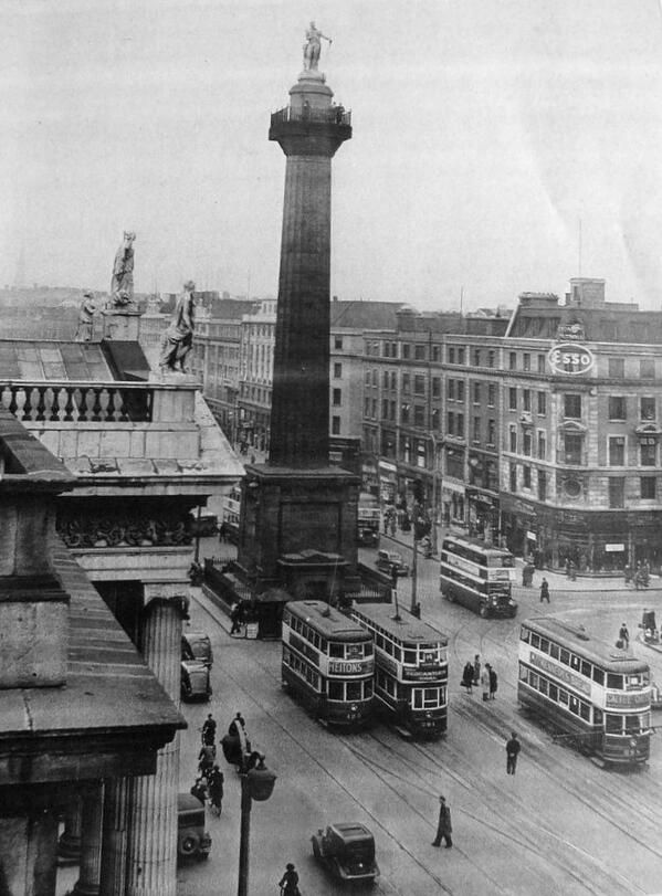 Nelson's Pillar, #OConnell St. #Dublin City - c1935