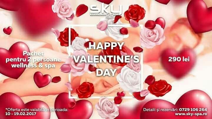 Pregătește-i o supriză de Valentine's Day persoanei iubite la Sky Wellness & Spa. Sky Wellness & Spa vă răsfață cu masaj de relaxare în salina cu sare de Himalaya. Saune cu aburi îmbietori, hamamul și jacuziurile calmante vă vor oferi o experiență unică și o zi perfectă în 2. Detalii și rezervări la 0729 106 264  *Oferta este valabilă în perioada: 10 februarie 2017 - 19 februarie 2017.