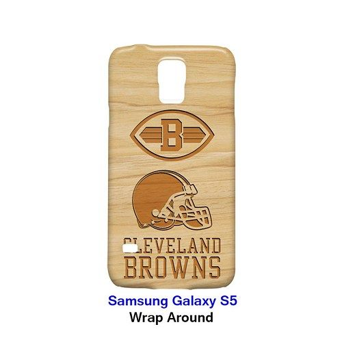 Cleveland Browns Style Wood Case for Samsung Galaxy S5