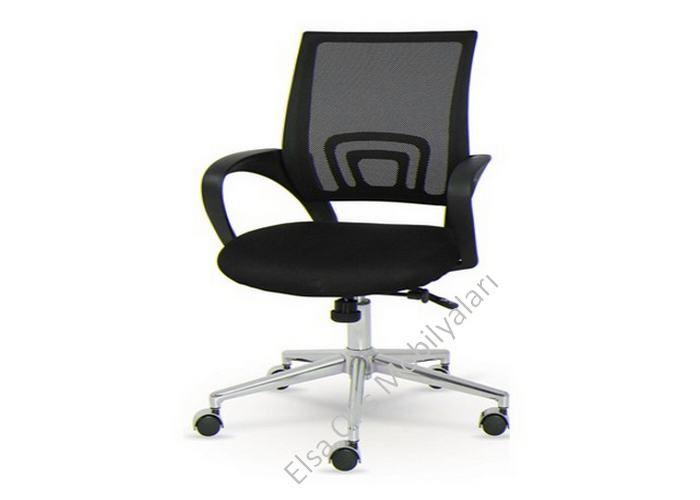 Toplantı ve çalışma koltuğu olarak kullanılan pratik ve şık fileli ofis koltuğu. Krom ayaklı ve plastik ayaklı seçenekler. Garantili file koltuk