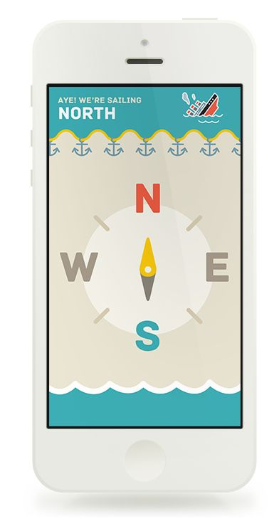 Aye, Compass by Igor Štumberger, via Behance