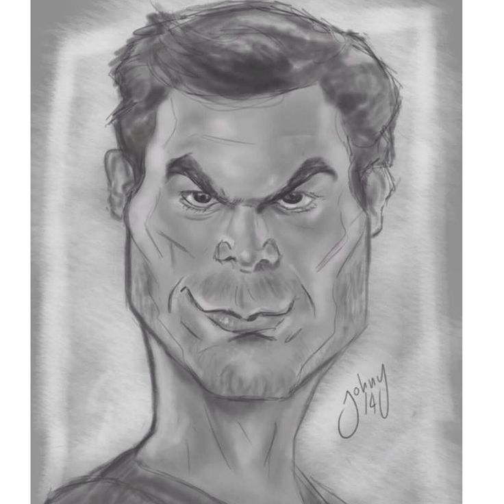 Sketch Dexter Morgan Photoshop CC