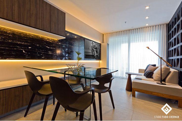 Apartamento de 40 metros quadrados com decoração preta e muito chique - limaonagua