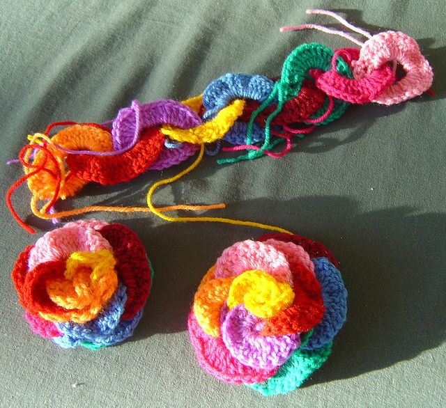 Loopy Roses. Actually I made this. It's so easy for learners!