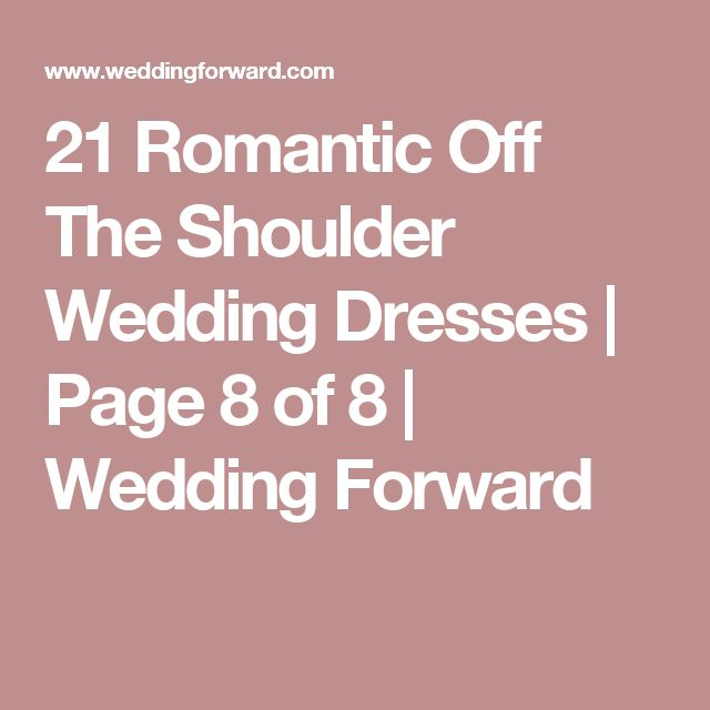 21 Romantic Off The Shoulder Wedding Dresses | Page 8 of 8 | Wedding Forward