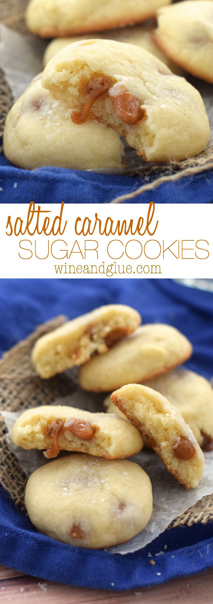 These Salted Caramel Sugar Cookies are AMAZING! Melt in your mouth delicious!