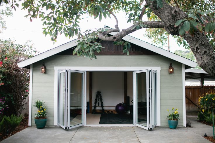 Don't think you have room for a home gym? This outdoor addition is the perfect space to spread out and work out! #DreamBuilders