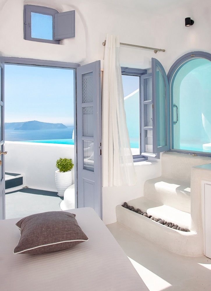 The incredible honeymoon Villa at Dana Villas, Santorini. Book for 3 nights and hold you're wedding here you will receive free venue hire!  Why not spoil yourself! Imagine waking up to this the first day of your married life! This is why Weddings in Santorini are so popular with unrivalled hotels and views like this, you'd never want to come home again!