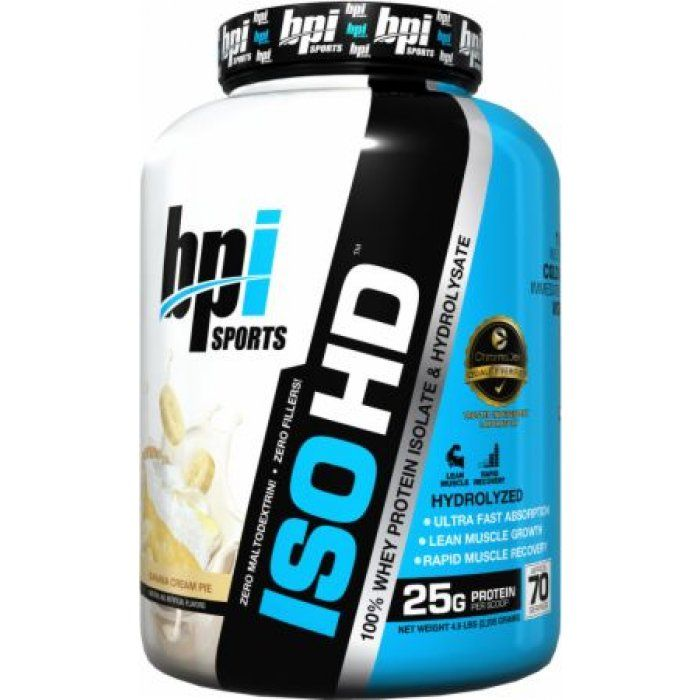 ISO HD™ contains 25 grams of Ultra-Pure, Ultra-Premium, Whey Protein Isolate. ISO HD™ is designed to support lean muscle growth and increased strength.